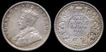 World Coins - 1913 (b) India (British) 1 Rupee XF