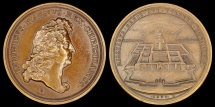 World Coins - 1675 France - Louis XIV - The National Residence of the Invalids by Joseph Charles Roettiers