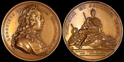 World Coins - 1724 France - Louis XV - Commemorating the role of France as mediator between Russia and Turkey by Jean Duvivier and Joseph-Charles Roettiers