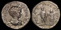 Ancient Coins - Geta Denarius - PRINC IVVENTVTIS - Rome Mint