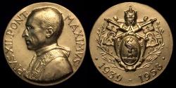 World Coins - 1958 Vatican - Pope Pius XII Death Medal by Aurelio Mistruzzi