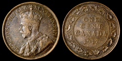 World Coins - 1917 Canada 1 Cent XF