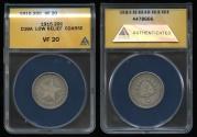 World Coins - 1915 Cuba 20 Centavos - Low Relief Coarse Reeding - ANACS VF20