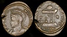 Ancient Coins - Crispus Ae3 - BEAT TRANQVILITAS - Londinium Mint