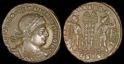 Ancient Coins - Constantius II Ae3 - GLORIA EXERCITVS - Siscia Mint