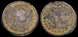 Ancient Coins - Gratian Ae2 - GLORIA ROMANORVM - Constantinople Mint