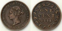 World Coins - 1888 Canada 1 Cent - Victoria - XF