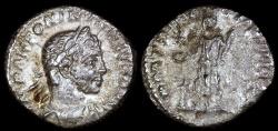 Ancient Coins - Elagabalus Denarius - PM TR P IIII COS III P P - Rome Mint