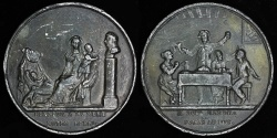 World Coins - 1821  France - Duchess of Berry Laudatory Medal - presented to the Duchess of Berry three weeks before the baptism, April 9, 1821 by Jean Duvivier