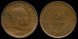 World Coins - 1898 Portugal 5 Reis AU