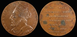World Coins - 1833 France - King Francois I by Armand Auguste Caque