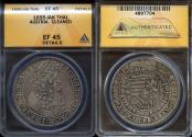 World Coins - 1695 IAK Austria 1 Thaler - Leopold I - ANACS XF45