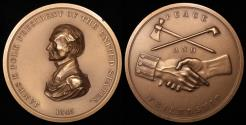 """Us Coins - 1845 James Knox Polk """"Indian Peace Medal"""" - Eleventh President of the United States (March 4, 1845 to March 3, 1849) - Original US Mint Medal by John Gadsby Chapman and John Reich"""
