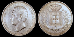 World Coins - 1888 Portugal 500 Reis - Luiz I - XF