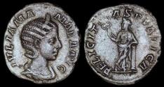 Ancient Coins - Julia Mamaea Denarius - FELICITAS PVBLICA - Rome Mint