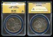"""World Coins - 1935 Cuba 1 Peso - """"ABC Peso"""" ANACS AU50"""
