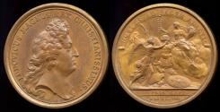 World Coins - 1678  France - King Louis XIV the Capture of Ypres by Jean Mauger