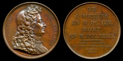 World Coins - 1821  France - Claude Louis Hector de Villars, Prince de Martigues, Marquis then Duc de Villars, Vicomte de Melun, the last great general of Louis XIV by Armand-Auguste Caqué
