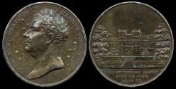 World Coins - 1830  Great Britain - George IV Commemorative - Death Medal by Thomas Wells Ingram (Early Bronze Electrotype)