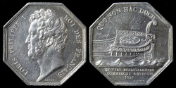 World Coins - 1828  France - Jeton - Louis Phillippe - Bordeaux Chamber of Commerce by Jacques-Jean Barre and Henri Alfred Auguste Dubois