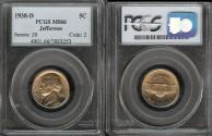 Us Coins - 1938 D Jefferson Nickel PCGS MS66
