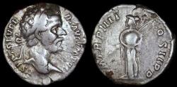 Ancient Coins - Septimius Severus Denarius - P M TR P IIII COS II P P - Rome Mint