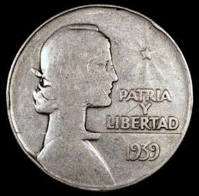 World Coins - 1939 Cuba 1 Peso