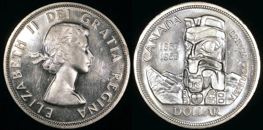 1958 Canada 1 Cent BU