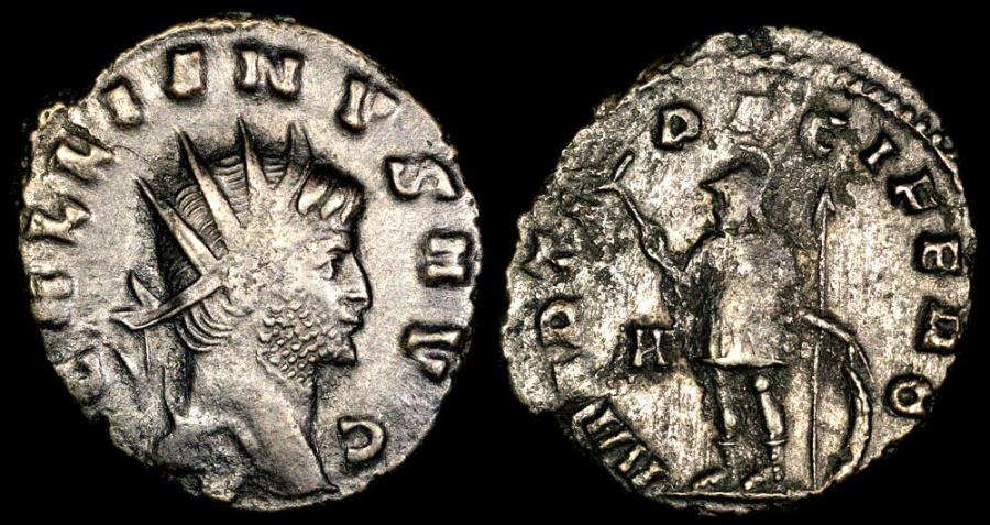 Ancient Coins - Gallienus Antoninianus - MARTI PACIFERO - Rome Mint