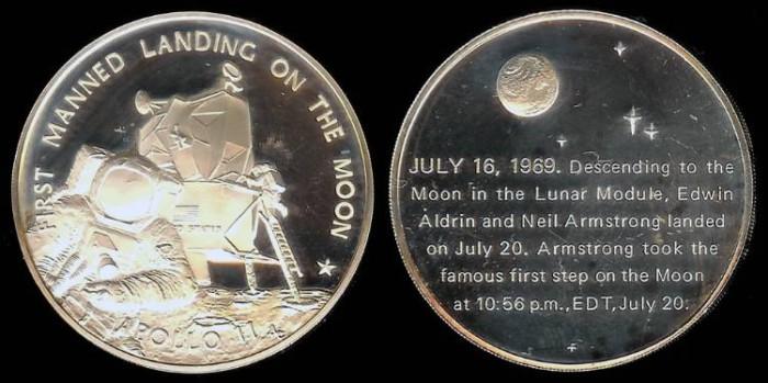 apollo 11 moon landing commemorative coin - photo #19