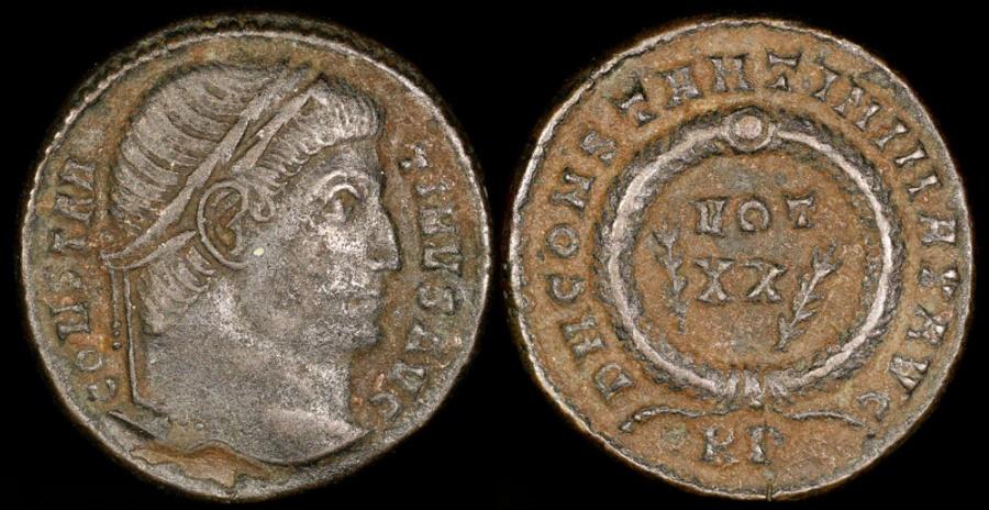 Ancient Coins - Constantine I Ae3 - D N CONSTANTINI MAX AVG - Aquileia Mint