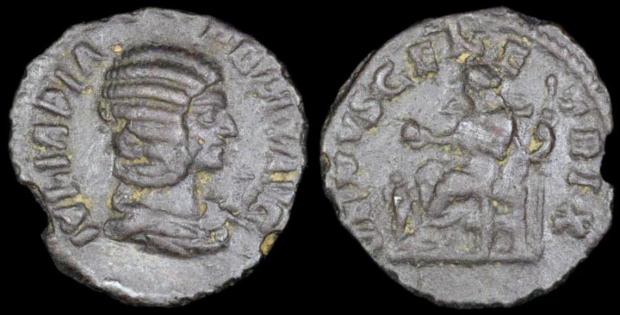 Ancient Coins - Julia Domna Denarius - VENUS GENETRIX - Rome Mint