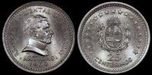 World Coins - 1960 (I) Uruguay 25 Centesimos - Decimal Coinage - BU