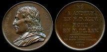 World Coins - 1817  France - Nicolas Poussin, leading painter of the classical French Baroque style by Joseph Eugene Dubois for the Galerie Metallique des Grands Hommes Francais