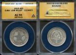 World Coins - 1915 Cuba 40 Centavos - 1st Republic - Low Relief Star - ANACS AU55