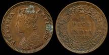 World Coins - 1898 India (British) 1/2 Pice AU