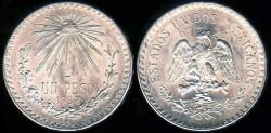 World Coins - 1932 M Mexico 1 Peso BU