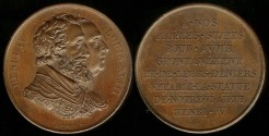 World Coins - 1824 France - King Henry IV – Re-establishment of his Statue - Donor's Medal by Raymond Gayrard