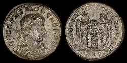 Ancient Coins - Crispus Ae3 - VICTORIAE LAETAE PRINC PERP - Siscia Mint