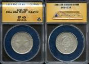 World Coins - 1915 Cuba 40 Centavos - 1st Republic - Low Relief Star - ANACS XF40