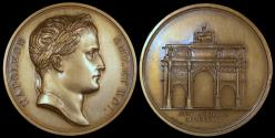 World Coins - 1806 France - Napoleon - Arc of Triumph on the Carrousel by Jean-Bertrand Andrieu, Nicolas Guy Antoine Brenet and Dominique-Vivant Denon
