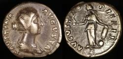 Ancient Coins - Faustina II Denarius - AVGVSTI PII FIL - Rome Mint