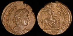 Ancient Coins - Theodosius I Ae3 - CONCORDIA AVGGG - Nicomedia Mint