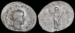 Ancient Coins - Trebonianus Gallus Antoninianus - PAX AETERNA - Rome Mint