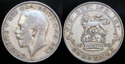 World Coins - 1922 Great Britain 6 Pence - George V - XF