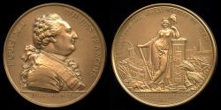 World Coins - 1789  France - Establishment of the City of Paris by Pierre-Simon-Benjamin Duvivier and Georges Dupre