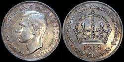 World Coins - 1938 Australia 1 Crown - George VI - AU (Small Mintage)