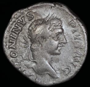 Ancient Coins - Caracalla Denarius - PONTIF TR P X COS II - Rome Mint