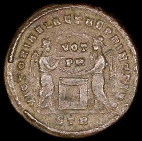 Ancient Coins - Constantine I  Ae3 - VICTORIAE LAETAE PRINC PERP - Treveri Mint