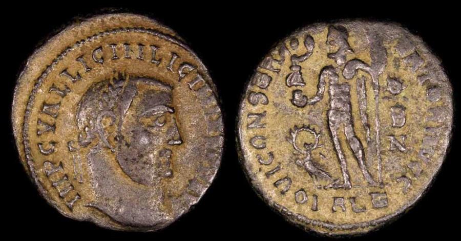 Ancient Coins - Licinius I Follis - IOVI CONSERVATORI AVGG - Alexandria Mint